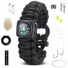 Survival Bracelet: Best Paracord Wristband With Compass Wrist Strap Rescue Gear