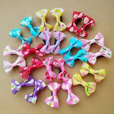 50pcs/lot Handmade Small Bow Kids Hair Clip Alligator Clips Girls Ribbon Hairpin