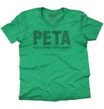 PETA Satire Ironic Humor Adult Rude Gifts Funny Quote V-Neck T-Shirt