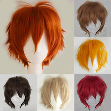 US Seller Pixie Anime Wigs Short Straight Cosplay Costume Party Unisex Wig Equal