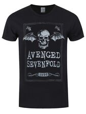 Avenged Sevenfold Face Card Men's Black T-shirt