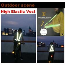 High Elastic Traffic Night Security Running Cycling Safety Reflective Vest TE