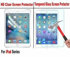 Tempered Glass / Ultra Clear Screen Protector For iPad 4 3 Pro Air 1 2 Mini 4 3