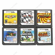 6Pcs MARIO Game Card Child Children.Gift For Nintendo DS NDS DSI 3DS US Version