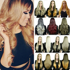 Women Half Wig Long Straight Hair Synthetic Heat Resistant Wigs Average Cap Size