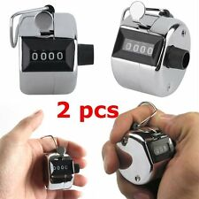 Pro 2PCS Sale Hand held Tally Counter 4 Digit Number Clicker Golf NBG