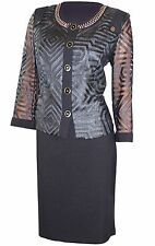 WOMENS BUSINESS SUIT: Leather Fill Coupe Skirt Suit Set, Special Occasions