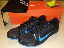 NIKE Zoom Rival MD 7 Track Field Running Shoes Spikes Black Blue