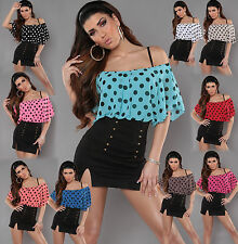 New Women Clubbing Top Off Shoulder Blouse Sexy Ladies Party Dress 6 8 10 12 S M