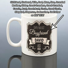 BEST DAD HUSBAND MUM BOYFRIEND GIRLFRIEND MUG Fathers Day Gift Birthday Present