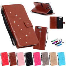 Flip Leather Wallet Card Stand Skin Cover Case For Huawei P8 P9 Lite Series