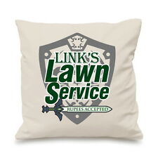 Links Lawn Service Legend Zelda Ruppees Ocarina Pillow Cushion Cover Gift