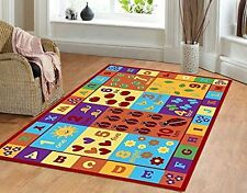 Kids ABC Educational Alphabet Letter & Numbers Multicolor Anti Skid Area Rug