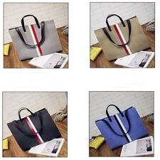 Multi-Color Casual Canvas Big Tote Shopper Bags Shoulder Handbag Large Size Bag