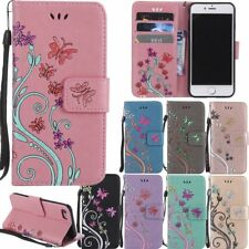 Fashion Flower Flip Leather Wallet Card Case Cover For Apple iPhone 5S 6S 7 Plus