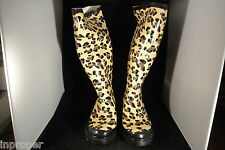 Women's,CHEETAH Print, Fashion Rain Boots,Ballard Designs,New w/Black Carry Bag