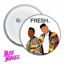 FRESH Prince of Bel Air - DJ Jazzy Jeff Badges & Magnets -  90's Will Smith NEW