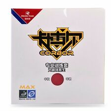 2x Reactor CORBOR PRO Table Tennis Rubber With Sponge Pips-In Ping Pong Rubber