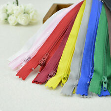 10 x Assorted Concealed Invisible Nylon Zips Sewing Closed End Zippers 22cm VTO