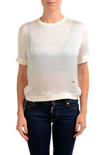 Dsquared2 Women's Ivory 100% Silk See Through Blouse Top Sz XS S