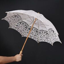 Handmade Lace Cotton Wedding Parasol Embroidery Umbrella Bridal Decoration New