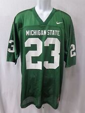 Michigan State Spartans Football Replica Jersey Green with White 23