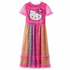 NWT Hello Kitty Foiled Star Dot Nightgown XS M Dress Up Pajamas Pink