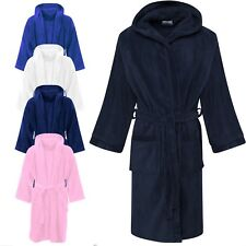 Kids Hooded Bathrobe 8 to 10 Years Old Boys Girls Soft Cotton Dressing Gown