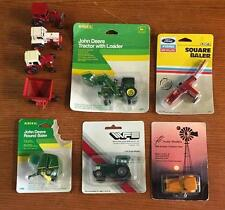 1/64 Scale Tractor And Implement Lot Ertl John Deere Ford Case International