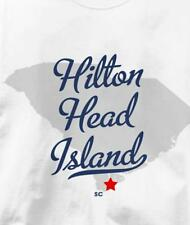 Hilton Head Island, South Carolina SC MAP Souvenir T Shirt All Sizes & Colors
