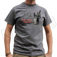 Banksy Don't Forget To Eat Your Lunch Funny Mens Ladies Kids T-Shirts Vest S-XXL