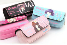 New Girl Pencil Pen Case Box Cosmetic Pouch Pocket Brush Holder Makeup Bag