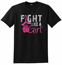 Fight Like a Girl Breast Cancer Boxing Glove T-Shirt Unisex