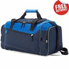 Navy/Blue Lightweight Hand Luggage Travel Cabin Mens Bag Weekend Sport Holdall