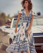 Women Summer Long Dress Beach Evening Party Maxi Sundress Boho V-Neck Fashion