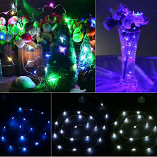 20/40 LED Battery Powered Copper Wire String Fairy Lights Wedding Party Light UK