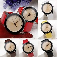 Womens Watch Vintage Quartz Leather Stainless Steel Analog Ladies Wrist Watches