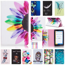 Cute Painted Leather Wallet Card Stand Case Cover For Amazon Kindle Fire 7 2015