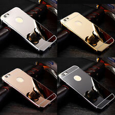 Luxury Aluminum Ultra Thin Mirror Metal Back Case Cover For Various iPhone Model