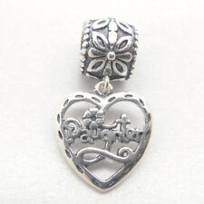 Authentic Genuine S925 Sterling Silver Mother Father love daughter Charm