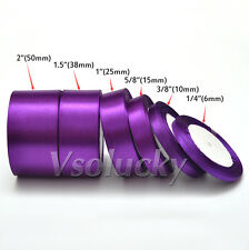 25 Yards of Satin Ribbon 6 10 15 25 38 50mm Wedding Party Craft Bow Decoration