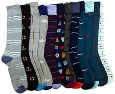12 Pairs of Mens Dress Socks, Colorful Patterned Fashion Dress Socks Size: 10-13