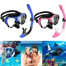 Snorkel Set Top Snorkel Set with Tempered Glass Diving Mask and Dry Snorkel New