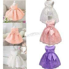 Infant Baby Flower Girl Birthday Wedding Pageant Party Princess Lace TutuDress