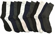 12 Pairs of Mens Dress Socks Light Weight Formal Classic Cotton Socks Size 10-13