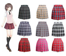 Lolita Cosplay Japan School Girls Uniform Dress Plaid Pleated Mini Skirt Pretty