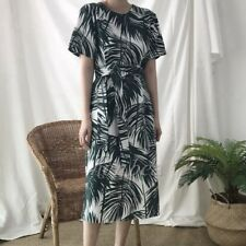 HOT Korean Summer Women Short Sleeve Fashion Causal Split Printing Long Dress