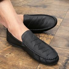 British Mens Slip On Casual Shoes Loafers Slippers PU Leather Moccasins Oxfords