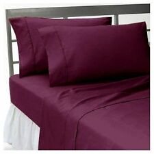 HOTEL QUALITY WINE SOLID BEDDING ITEMS 1000TC EGYPTIAN COTTON 7 US SIZE