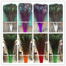Wholesale! 10/20/50/100 PCS peacock eye feathers 28-32 inches /75-80cm 7 color